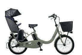 パナソニック Panasonic 電動アシスト自転車 ギュットクルームR・EX マットオリーブ BE-ELRE03G [20インチ /3段変速]【組立商品につき返品不可】 【代金引換配送不可】