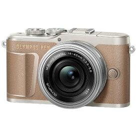 オリンパス OLYMPUS PEN E-PL10 ミラーレス一眼カメラ 14-42mm EZ レンズキット ブラウン [ズームレンズ][PENEPL10EZレンズキット]