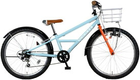 MARUKIN マルキン 24型 自転車 ユニバイクス 246-A(ライトブルー/外装6段変速) MK-19-023【2020年モデル】【組立商品につき返品不可】 【代金引換配送不可】