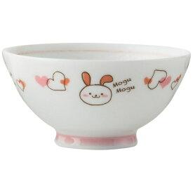 アサヒコウヨウ 子供茶碗 もぐもぐ うさぎ KD306-PK ピンク[KD306]