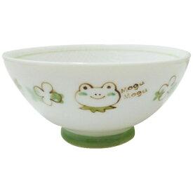 アサヒコウヨウ 子供茶碗 もぐもぐ かえる KD307-GR グリーン[KD307]