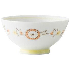 アサヒコウヨウ 子供茶碗 もぐもぐ らいおん KD308-YE イエロー[KD308]