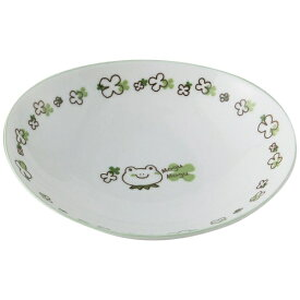 アサヒコウヨウ 子供カレー・パスタ皿 もぐもぐ かえる KD311-GR グリーン[KD311]