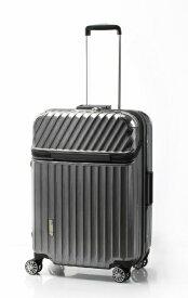TRAVELIST スーツケース 75L TRAVERIST(トラベリスト)Moment Flame(モーメントフレーム) hairline black 76-25001 [TSAロック搭載]