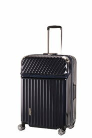 TRAVELIST スーツケース 75L TRAVERIST(トラベリスト)Moment Flame(モーメントフレーム) hairline navy 76-25002 [TSAロック搭載]