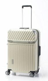TRAVELIST スーツケース 75L TRAVERIST(トラベリスト)Moment Flame(モーメントフレーム) hairline white 76-25009 [TSAロック搭載]