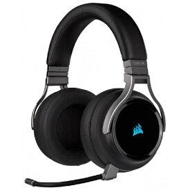 CORSAIR コルセア CA-9011185-AP ゲーミングヘッドセット VIRTUOSO RGB WIRELESS Carbon ブラック [ワイヤレス(USB)+有線 /両耳 /ヘッドバンドタイプ][CA9011185AP]