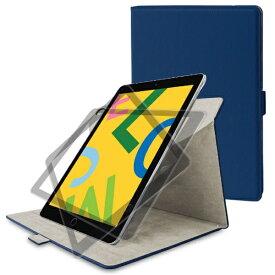 エレコム ELECOM iPad 10.2(第7/第8世代対応) ソフトレザー 360度回転 TB-A19R360NV ネイビー