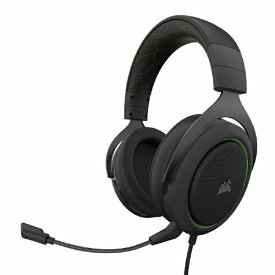 CORSAIR コルセア CA-9011216-AP ゲーミングヘッドセット HS50 PRO STEREO Green グリーン [φ3.5mmミニプラグ /両耳 /ヘッドバンドタイプ][CA9011216AP]