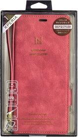 ナチュラルデザイン NATURAL design Xperia 1専用手帳型ケース Style Natural Red