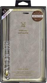 ナチュラルデザイン NATURAL design AQUOS R3専用手帳型ケース Style Natural Gray