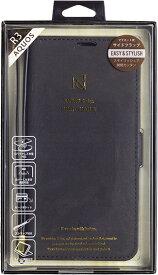 ナチュラルデザイン NATURAL design AQUOS R3専用手帳型ケース Style Natural Black