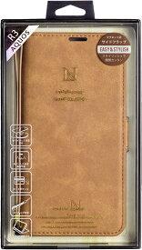 ナチュラルデザイン NATURAL design AQUOS R3専用手帳型ケース Style Natural Camel