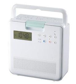 東芝 TOSHIBA TY-CB100(W) コンパクト防水型 SD/CDラジオ ホワイト [Bluetooth対応 /ワイドFM対応][TYCB100W]