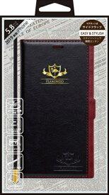 ナチュラルデザイン NATURAL design iPhone 11 Pro 5.8インチ専用手帳型ケース FLAMINGO Black/Red iP19_58-FL04