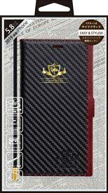 ナチュラルデザイン NATURAL design iPhone 11 Pro 5.8インチ専用手帳型ケース FLAMINGO Carbon/BlackxRed iP19_58-FL08