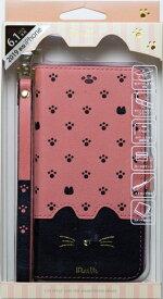 ナチュラルデザイン NATURAL design iPhone 11 6.1インチ 専用手帳型ケース Minette Pink-Black iP19_61-MIN07