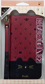 ナチュラルデザイン NATURAL design iPhone 11 6.1インチ 専用手帳型ケース Minette Red-Black iP19_61-MIN08