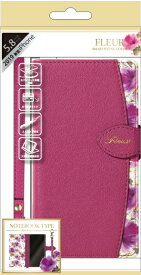 ナチュラルデザイン NATURAL design iPhone 11 Pro 5.8インチ専用手帳型ケース Fleur Magenta iP19_58-FLE07