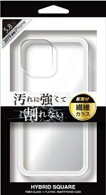 ナチュラルデザイン NATURAL design iPhone 11 Pro 5.8インチ専用背面型繊維ガラスケース HYBRID SQUARE Clear iP19_58-HYS01