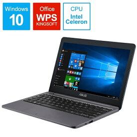 ASUS エイスース E203MA-4000G2 ノートパソコン ASUS E203MA スターグレー [11.6型 /intel Celeron /eMMC:64GB /メモリ:4GB /2019年10月モデル][11.6インチ office付き 新品 windows10]