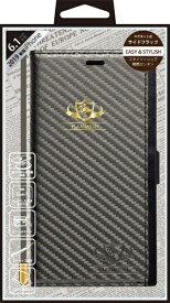 ナチュラルデザイン NATURAL design iPhone 11 6.1インチ 専用手帳型ケース FLAMINGO Carbon/Gray iP19_61-FL07