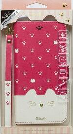 ナチュラルデザイン NATURAL design iPhone 11 Pro 5.8インチ専用手帳型ケース Minette Vivid Pink iP19_58-MIN05