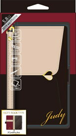 ナチュラルデザイン NATURAL design iPhone 11 Pro 5.8インチ専用手帳型ケース JUDY Beige × Black iP19_58-JUDY01