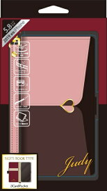 ナチュラルデザイン NATURAL design iPhone 11 Pro 5.8インチ専用手帳型ケース JUDY Pink × Brown iP19_58-JUDY02