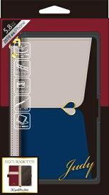 ナチュラルデザイン NATURAL design iPhone 11 Pro 5.8インチ専用手帳型ケース JUDY Gray × Navy iP19_58-JUDY03