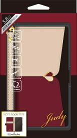 ナチュラルデザイン NATURAL design iPhone 11 Pro 5.8インチ専用手帳型ケース JUDY Beige × Wine red iP19_58-JUDY04