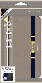 ナチュラルデザイン NATURAL design iPhone 11 6.1インチ 専用手帳型ケース ROSANNA GRAY iP19_61-RN01