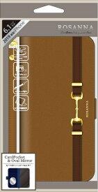 ナチュラルデザイン NATURAL design iPhone 11 6.1インチ 専用手帳型ケース ROSANNA CAMEL iP19_61-RN03