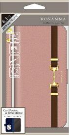ナチュラルデザイン NATURAL design iPhone 11 6.1インチ 専用手帳型ケース ROSANNA PINK iP19_61-RN04