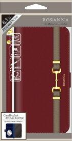 ナチュラルデザイン NATURAL design iPhone 11 6.1インチ 専用手帳型ケース ROSANNA BORDEAUX iP19_61-RN05
