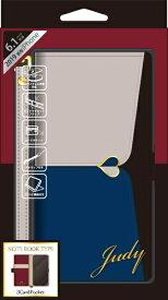 ナチュラルデザイン NATURAL design iPhone 11 6.1インチ 専用手帳型ケース JUDY Gray × Navy iP19_61-JUDY03
