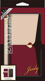 ナチュラルデザイン NATURAL design iPhone 11 6.1インチ 専用手帳型ケース JUDY Beige × Wine red iP19_61-JUDY04