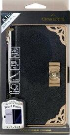 ナチュラルデザイン NATURAL design iPhone 11 6.1インチ 専用手帳型ケース CHARLOTTE BLACK iP19_61-CL01