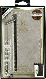 ナチュラルデザイン NATURAL design iPhone 11 6.1インチ 専用手帳型ケース z-line Gray iP19_61-ZL02
