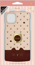 ナチュラルデザイン NATURAL design iPhone 11 6.1インチ 専用背面ケース Minette Brown iP19_61-MINP04