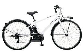 パナソニック Panasonic 【eバイク】700×38C型 電動アシスト自転車 ベロスター(F.クリスタルホワイト/外装7段変速) BE-ELVS772F【2020年モデル】【組立商品につき返品不可】 【代金引換配送不可】