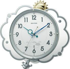 リズム時計 RHYTHM 掛け時計 【ファンタジースカイ409】 8MX409SR19 [電波自動受信機能有]