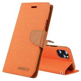 ビジョンネット Mercury CANVAS DIARYCase iPhone11 VNCAN11OR オレンジ