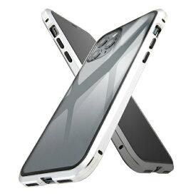 イングレム Ingrem iPhone 11 Pro アルミ×ガラス マグネットケース/シルバー IS-P23AG1/SV シルバー
