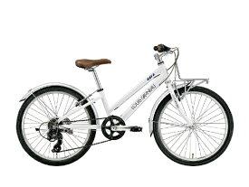 ルイガノ 22型 子供用自転車 J22 Plus(LGホワイト/外装6段変速)J22PLUS【組立商品につき返品不可】 【代金引換配送不可】