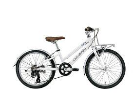 ルイガノ 20型 子供用自転車 J20 Plus(LGホワイト/外装6段変速) J20PLUS【適応身長:110〜125cm】【組立商品につき返品不可】 【代金引換配送不可】