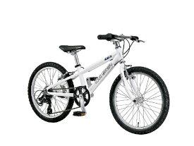 ルイガノ 20型 子供用自転車 J20(LGホワイト/外装6段変速)J20【適応身長:110〜125cm】【組立商品につき返品不可】 【代金引換配送不可】
