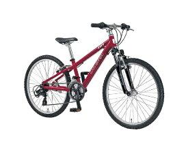 ルイガノ 24型 子供用自転車 J24(LGレッド/外装21段変速)J24【適応身長:130〜145cm】【組立商品につき返品不可】 【代金引換配送不可】