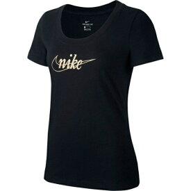 ナイキ NIKE レディース Tシャツ 半袖 グリッター 1(Sサイズ/ブラック×ゴールド) CI9366[コットン]