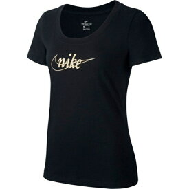 ナイキ NIKE レディース Tシャツ 半袖 グリッター 1(Mサイズ/ブラック×ゴールド) CI9366